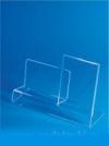 Подставка универсальная с огран. и держателем ценника (ш*в*г) 110*60/80*110мм